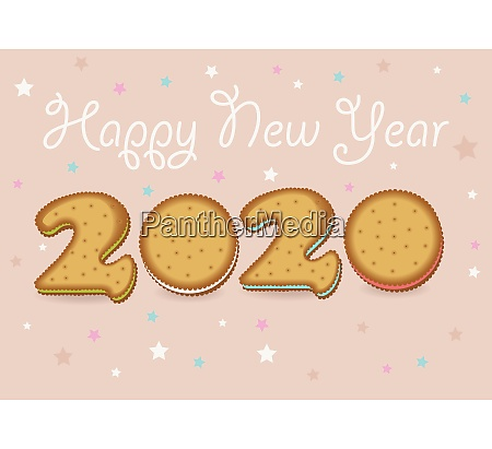 frohes neues jahr 2020 cookies
