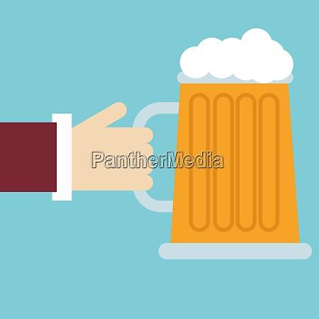 big beer illustration vector on white