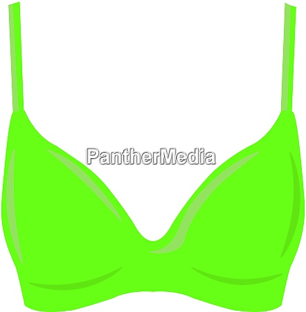 green bra illustration vector on white