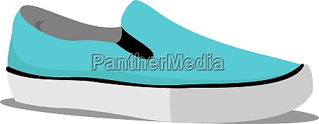 blue sneaker illustration vector on white