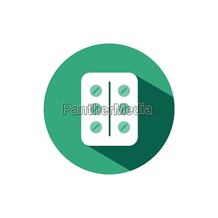 pack of pills icon with shadow
