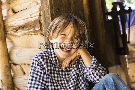 portrait of six year old boy