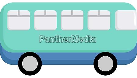 blue bus illustration vector on white