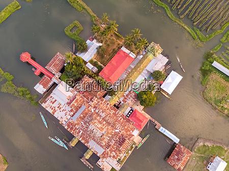 aerial view of nga phe kyaung