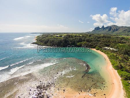 luftaufnahme von papaa bay kauai hawaii