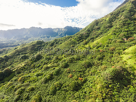 luftaufnahme der koolau mountains oahu hawaii