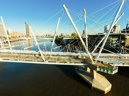 luftaufnahme der kurilpa bridge brisbane queensland