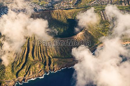 luftaufnahme von honolulu oahu hawaii