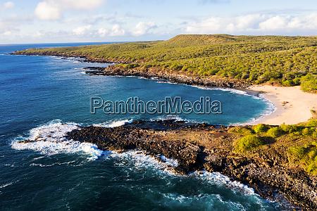 luftaufnahme von kepuhi beach west molokai