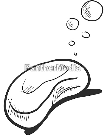 soap drawing illustration vector on white