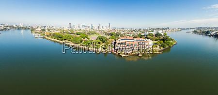 panorama luftbild von brisbane powerhouse brisbane