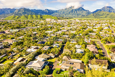 luftaufnahme von kailua oahu hawaii usa