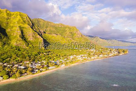 luftaufnahme von kaawa oahu hawaii