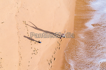 aerial view of a father