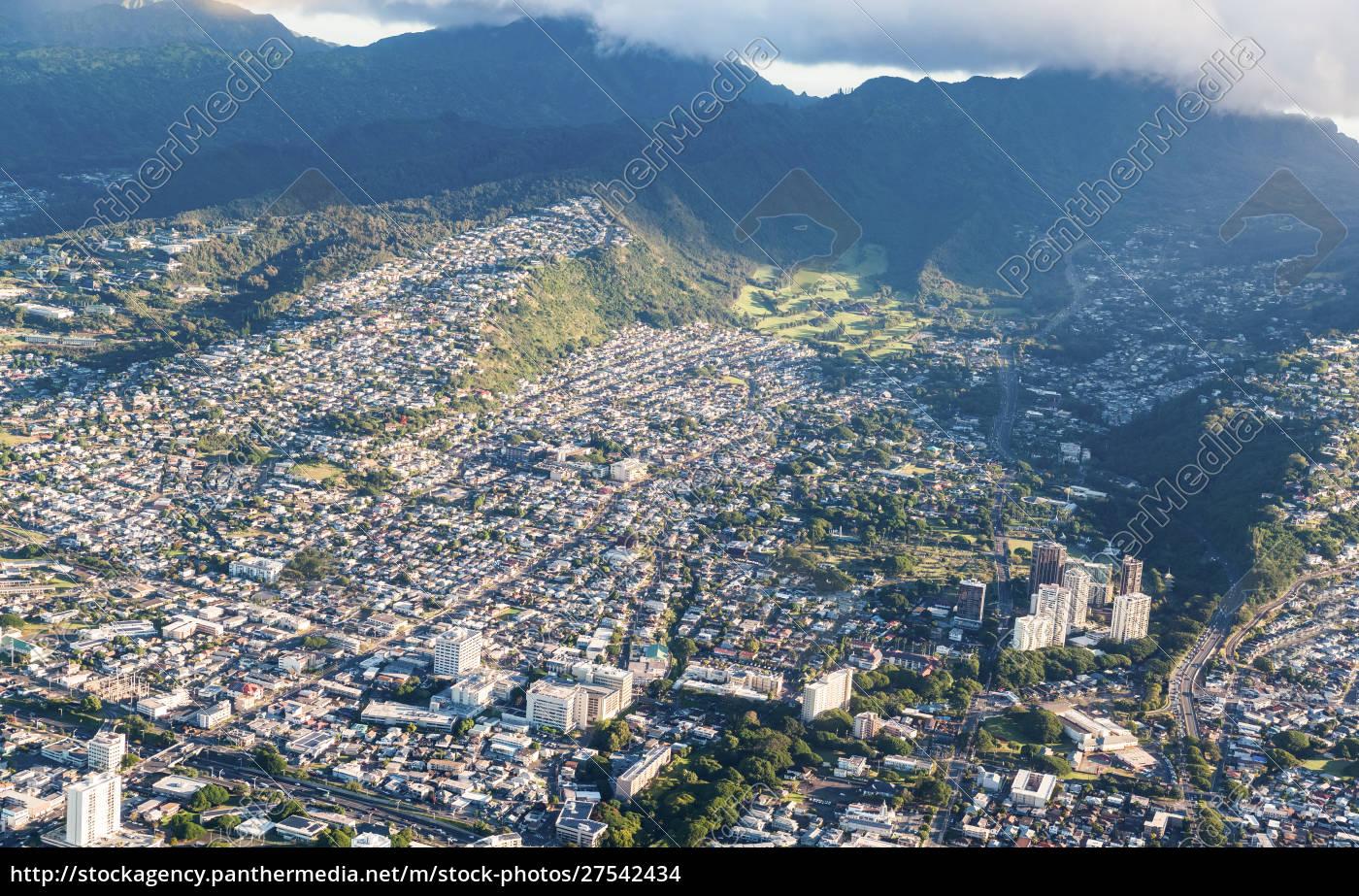 luftaufnahme, von, honolulu, oahu, hawaii - 27542434