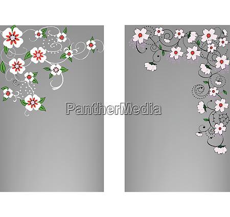 illustrationen mit floralen elementen