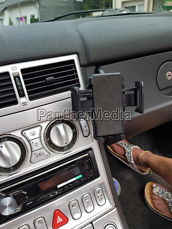 close up car interior