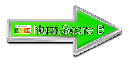gruener pfeil nutri score label b