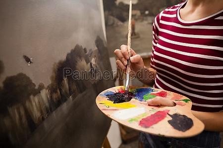 frau malerei auf leinwand in zeichnung