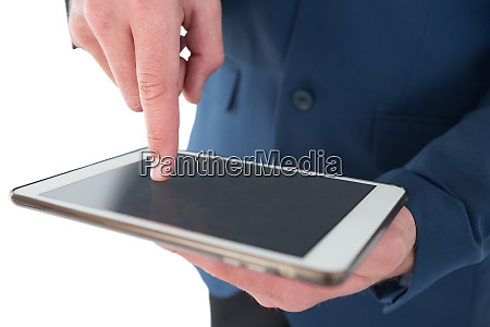 close up mid sectiong of businessman