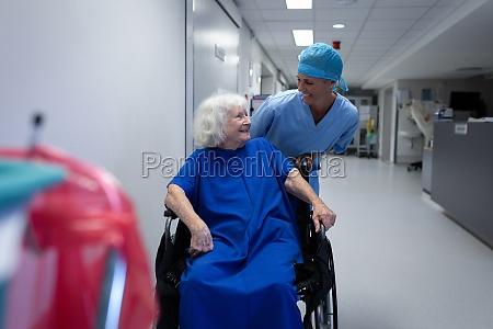 female surgeon talking with senior female