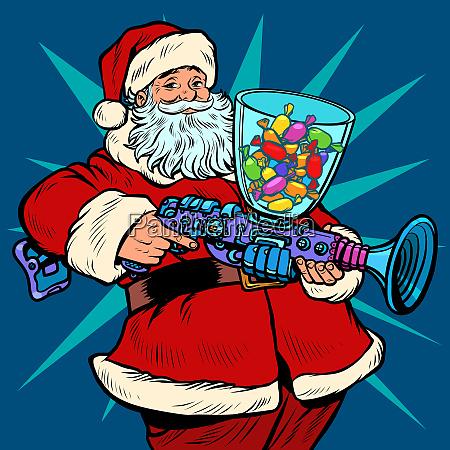 weihnachtsmann suessigkeiten maschine weihnachten und neujahr