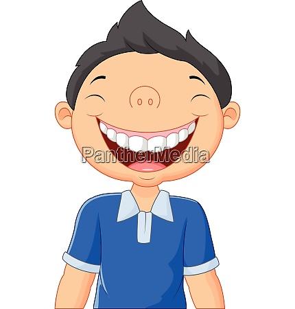 cartoon junge lachen