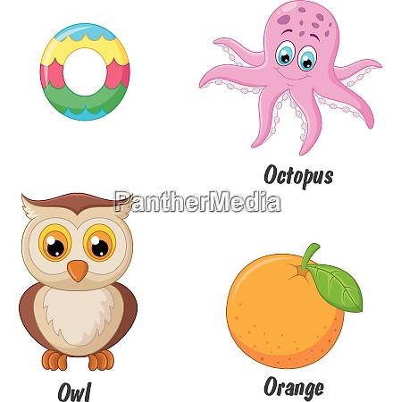 illustration des o alphabets