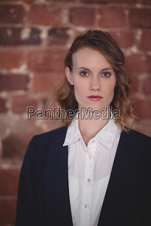 portrait of confident young attractive female