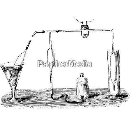 methanometer vintage gravur