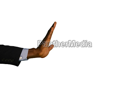arm of a businessman with hand