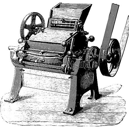 porzellan zylinder konverter vintage gravierte illustration