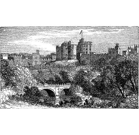 alnwick castle alnwick northumberland county 1890
