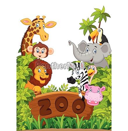 sammlung von zootieren