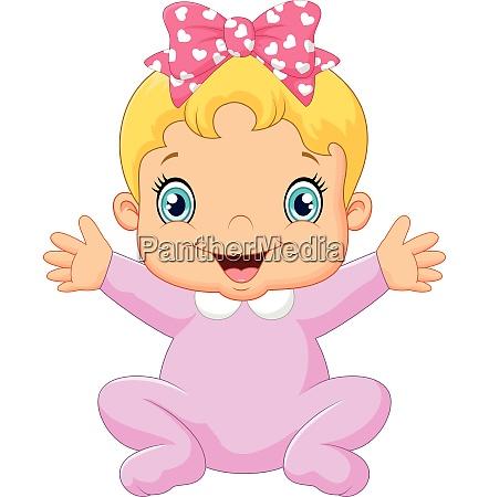 cartoon gluecklich baby posiert