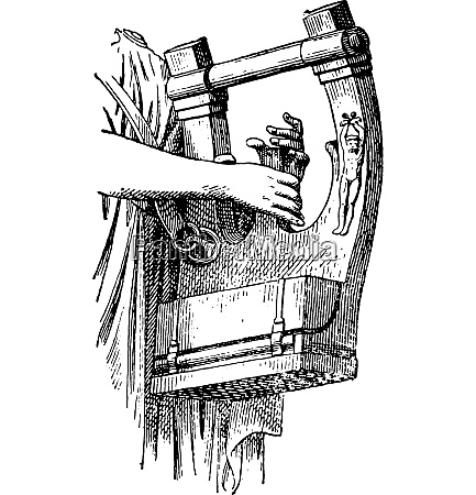 lyre von apollo vintage gravierte illustration