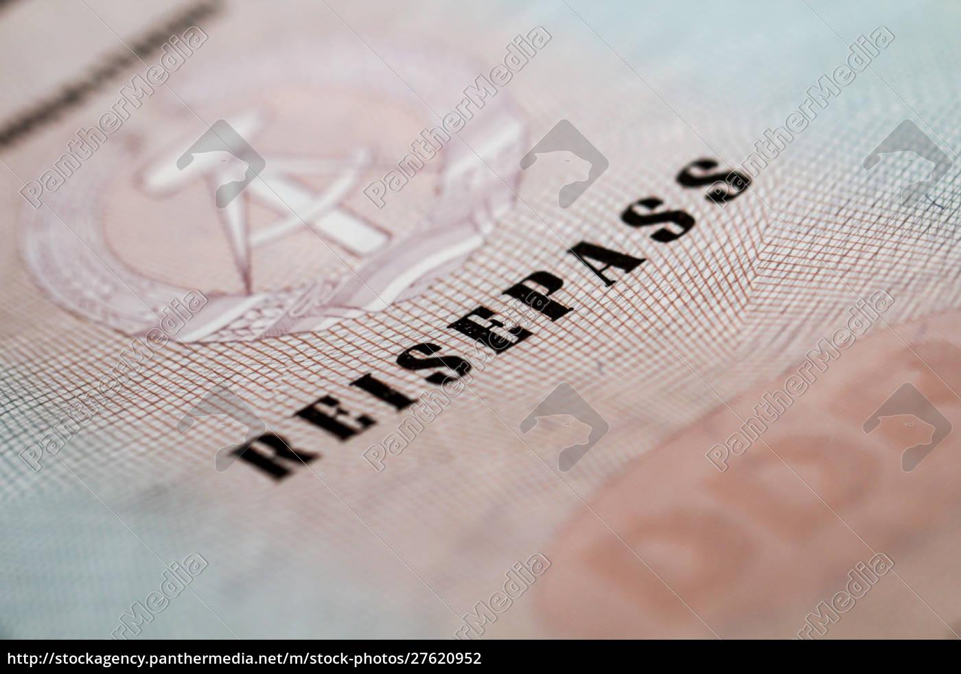 ehemaliger, reisepass, der, ddr, reisepass, reisedokumente - 27620952