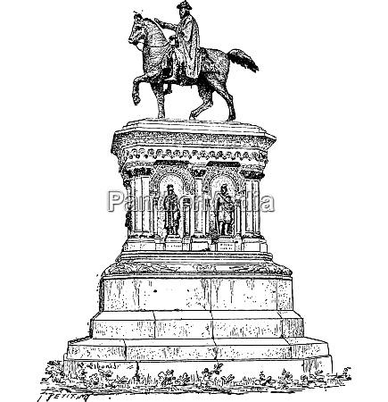 statue karls des grossen in luettich