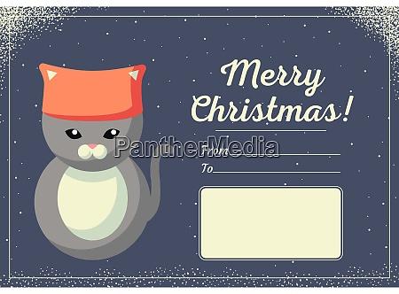 weihnachtskarte mit niedlichen tieren