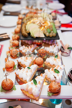 catering essen tisch set