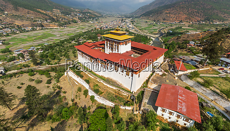 aerial view of a monastery at