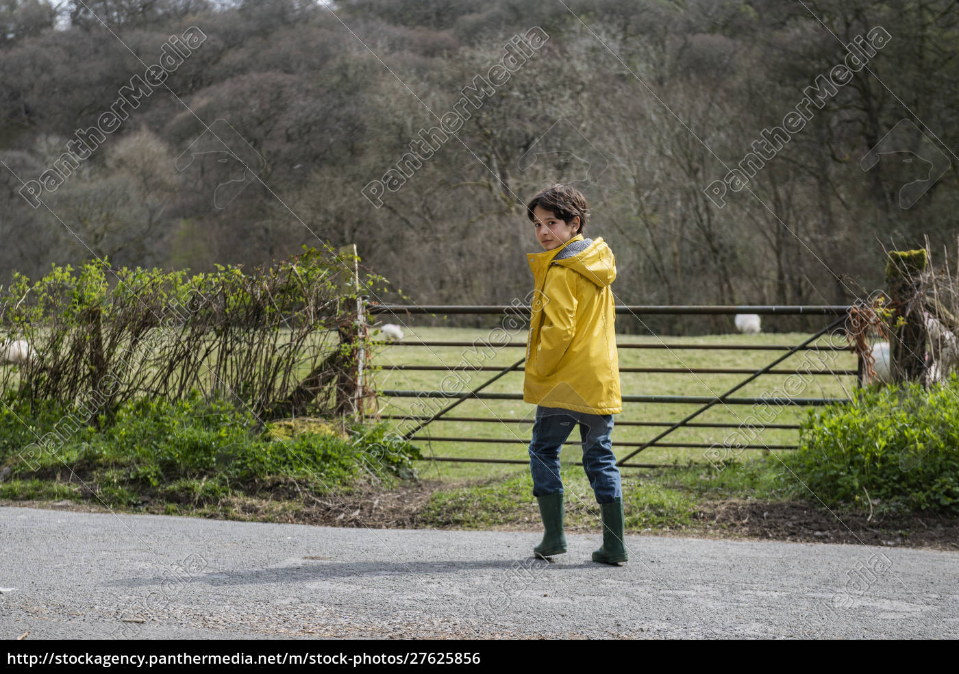 boy, playing, in, countryside - 27625856