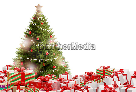 weihnachtsgeschenke festliche geschenke design 3d illustration