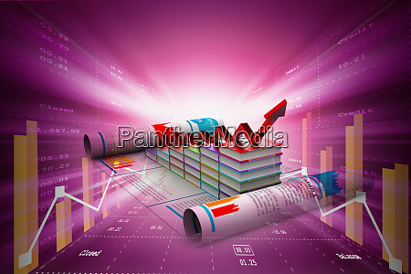 business graph und buecher des registers