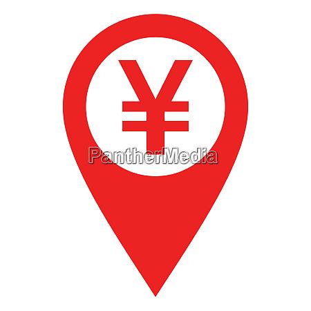 yen und standort pin