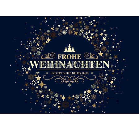 dark german christmas card with a