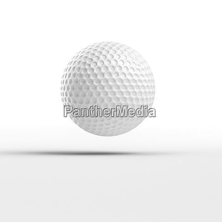 3d renderbild eines golfballs auf weissem