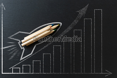 drawing of a rocket on a