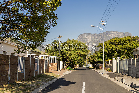 strasse in claremont kapstadt suedafrika panorama