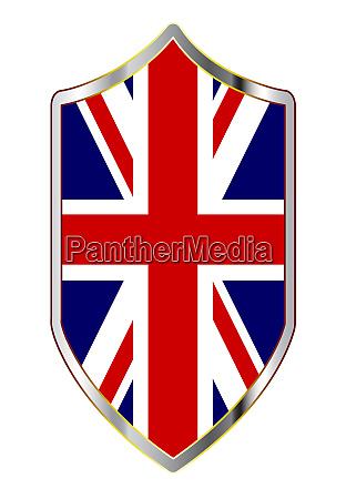 britische unipon jack flagge auf einem